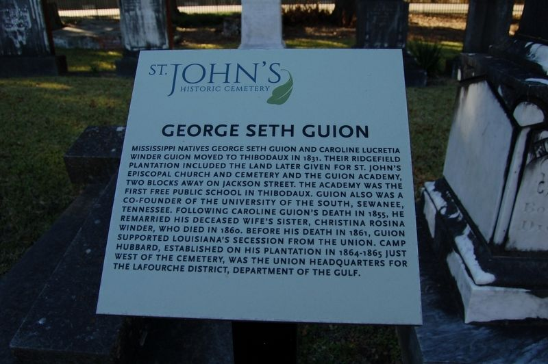 George Seth Guion Marker image. Click for full size.