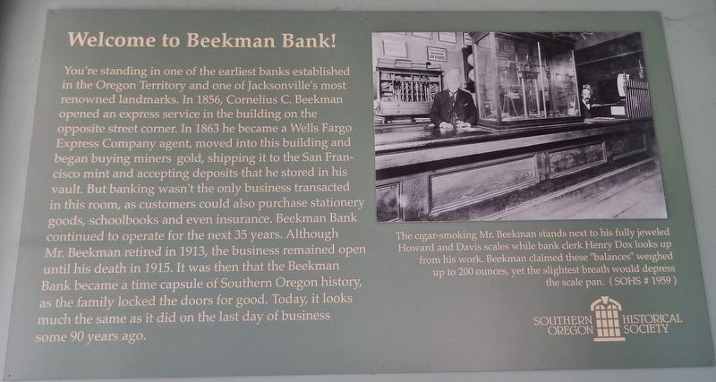 Welcome to Beekman Bank! (<i>located inside the Beekman Bank Building</i>) image. Click for full size.