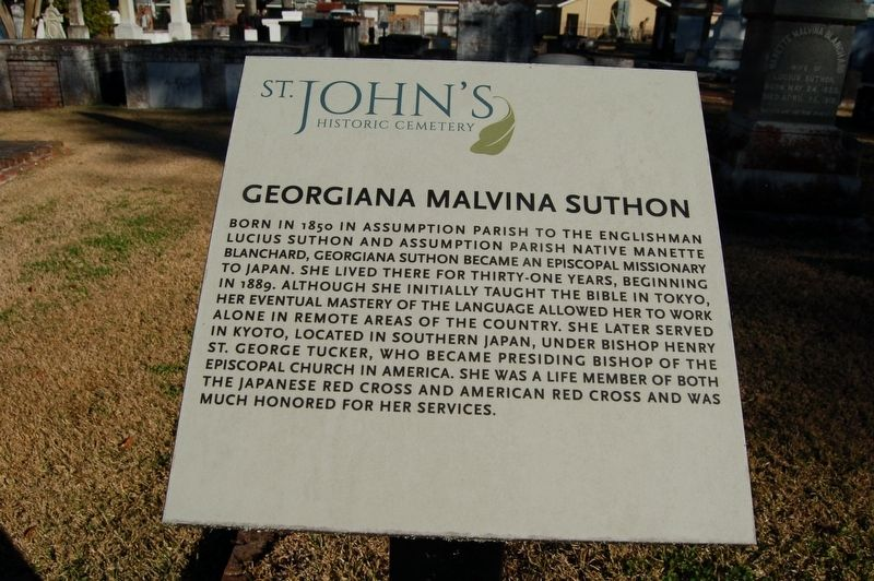 Georgiana Malvina Suthon Marker image. Click for full size.