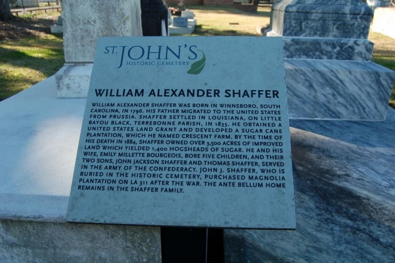 William Alexander Shaffer Marker image. Click for full size.