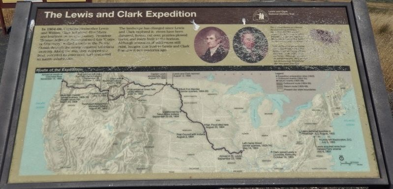 The Lewis and Clark Expedition Marker image. Click for full size.