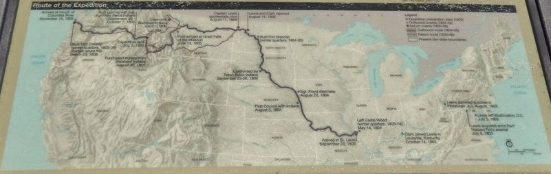 Marker detail: Lewis and Clark Expedition Map image. Click for full size.