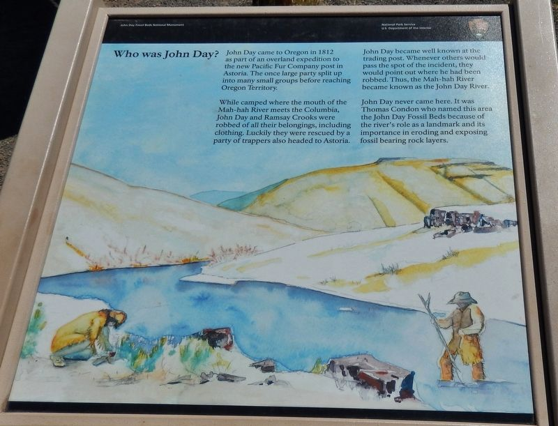 Who was John Day? Marker image. Click for full size.