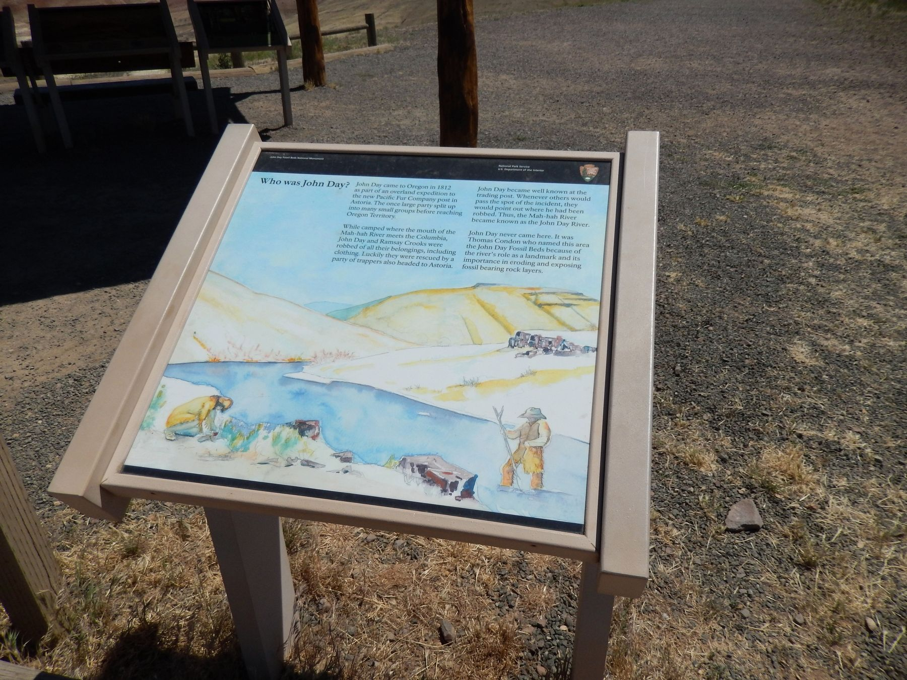 Who was John Day? Marker (<i>wide view</i>) image. Click for full size.