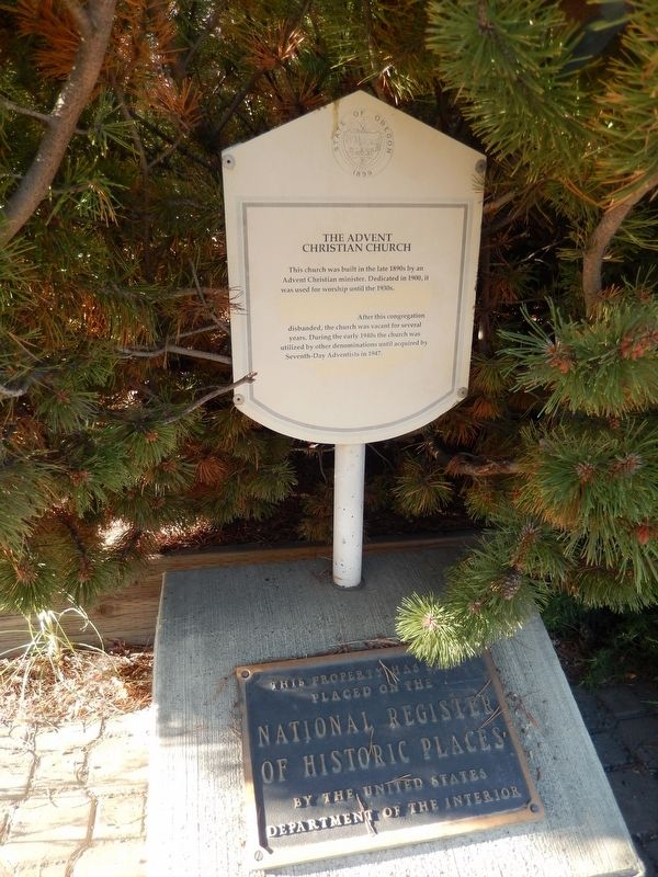 The Advent Christian Church Marker (<i>tall view</i>) image. Click for full size.
