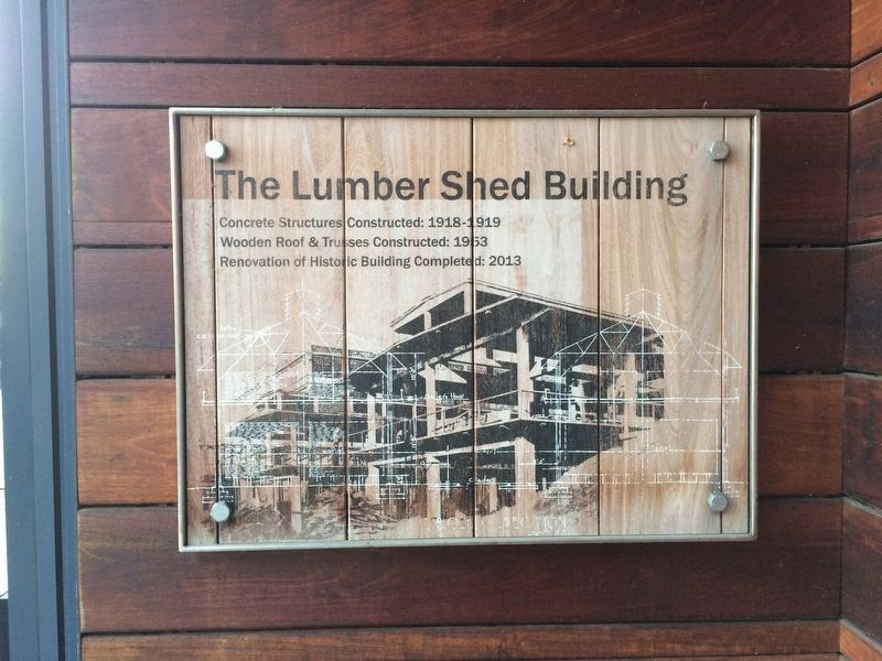 The Lumber Shed Building Marker image. Click for full size.