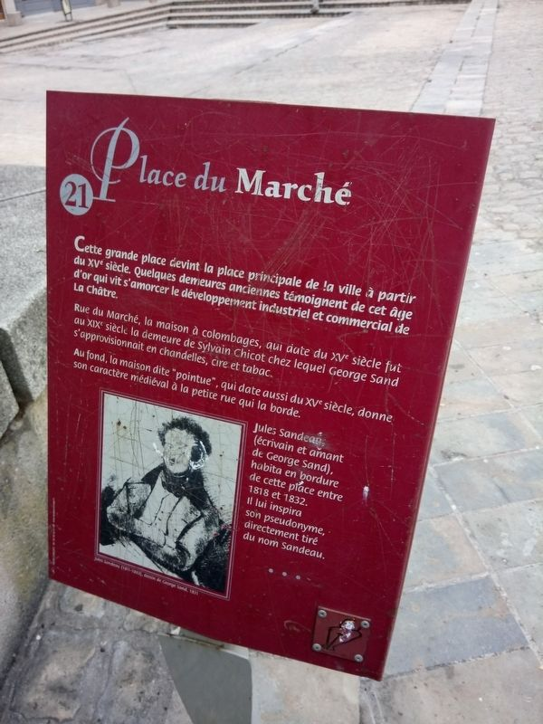 Place du marché Marker image. Click for full size.