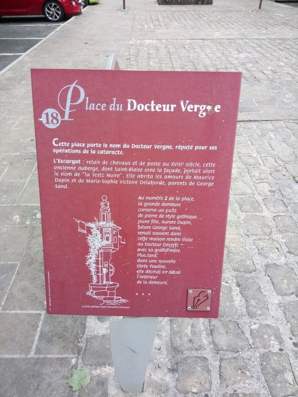 Place du Docteur Vergne Marker image. Click for full size.