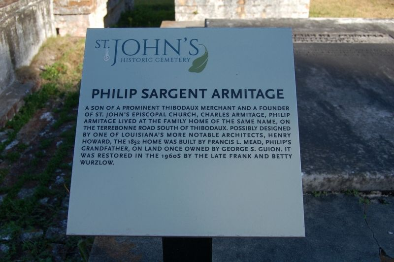 Philip Sargent Armitage Marker image. Click for full size.