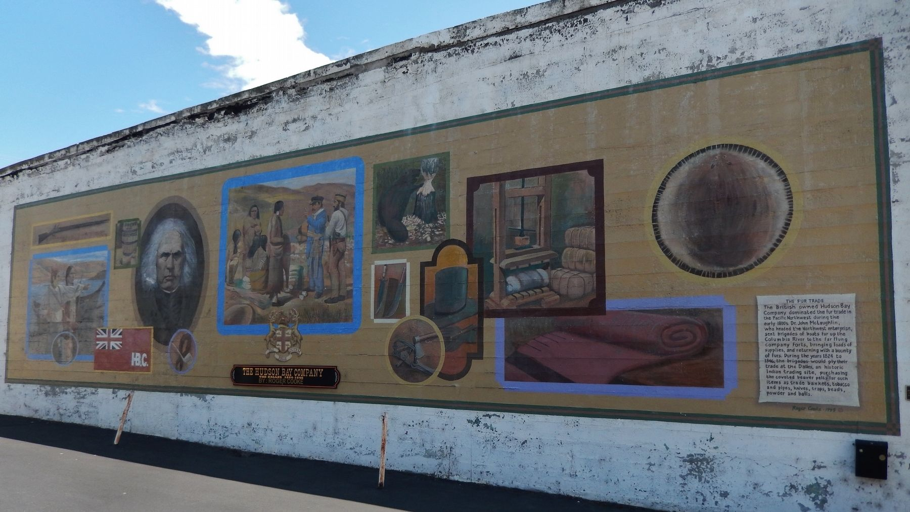 Hudson Bay Company Mural image. Click for full size.