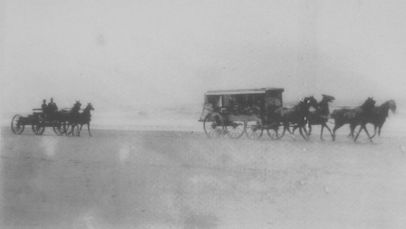 Marker detail: Beach Stagecoach line image. Click for full size.
