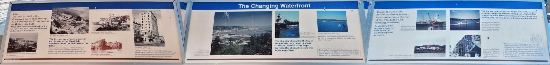 The Changing Waterfront Marker (<i>wide view of all three panels</i>) image. Click for full size.