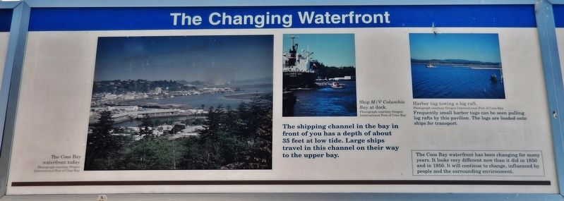 The Changing Waterfront Marker (<i>center panel</i>) image. Click for full size.