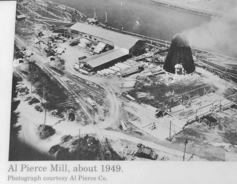 Marker detail: Al Pierce Mill, about 1949 image. Click for full size.