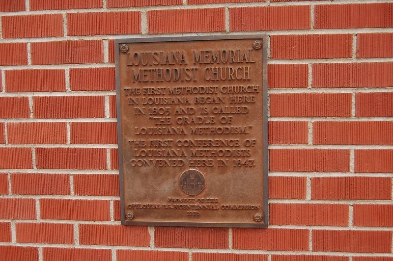 Louisiana Memorial Methodist Church Marker image. Click for full size.