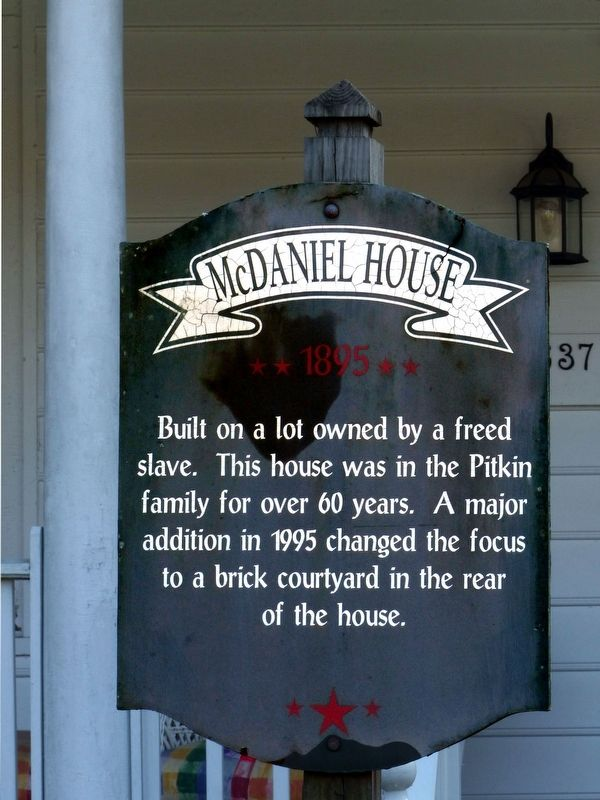 McDaniel House Marker image. Click for full size.