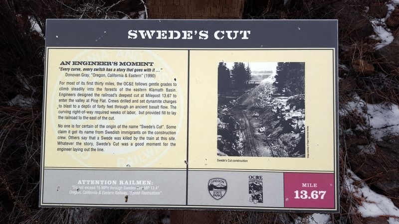 Swede's Cut Marker image. Click for full size.