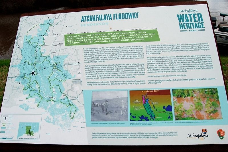 Atchafalaya Floodway Marker image. Click for full size.