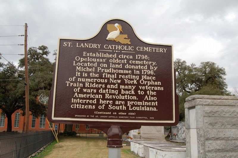 St. Landry Catholic Cemetery Marker image. Click for full size.