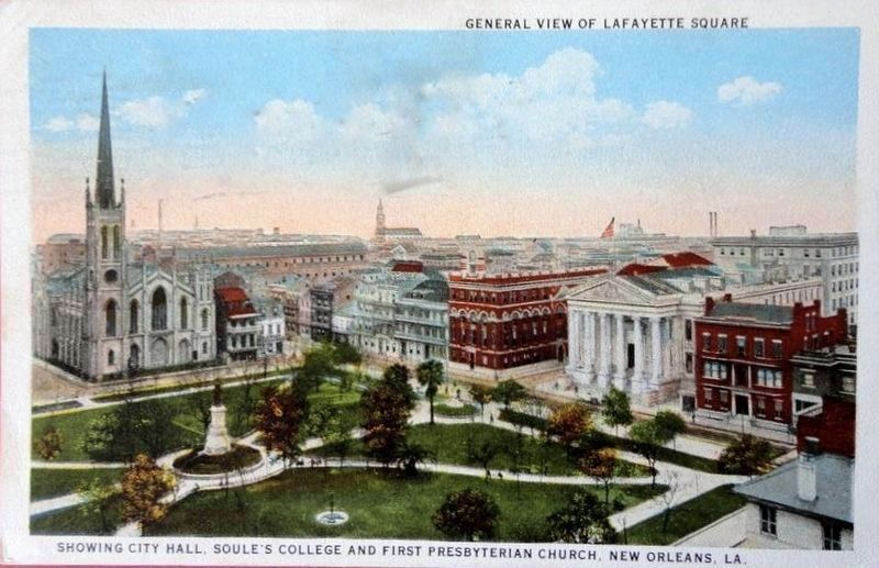 <i>...Showing City Hall, Soules College and First Presbyterian Church, New Orleans, LA.</i> image. Click for full size.