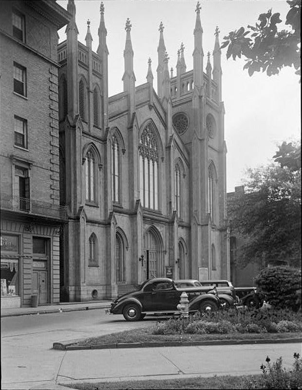 <i>FRONT ELEVATION (NORTH) - First Presbyterian Church, South Street, New Orleans</i> image. Click for full size.