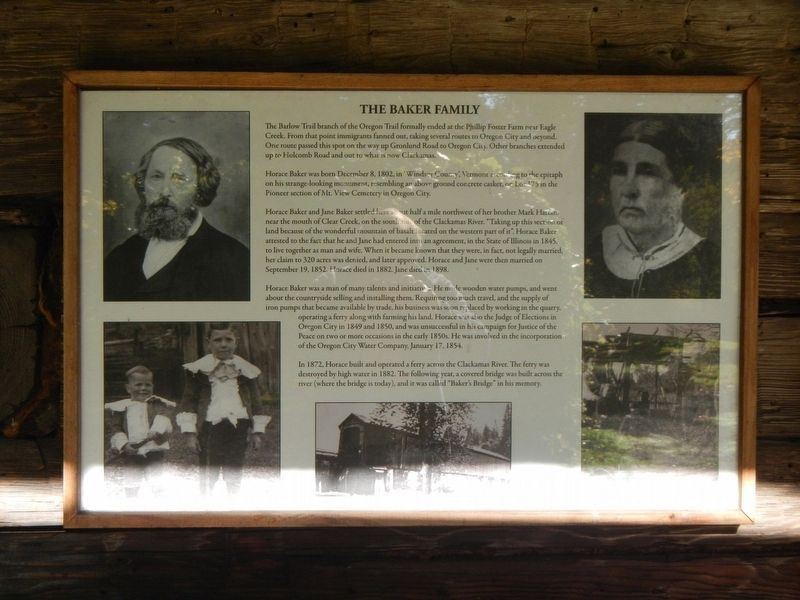 The Baker Family Marker image. Click for full size.
