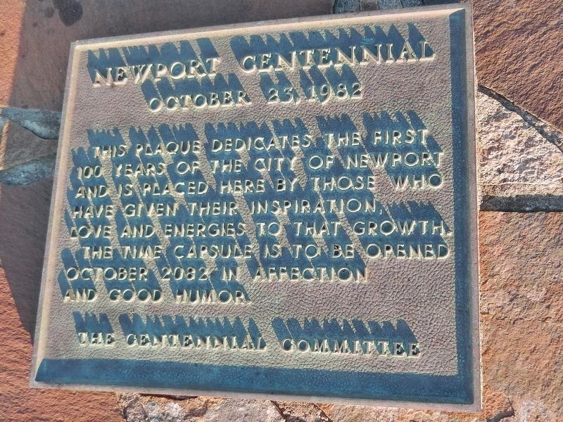Newport Centennial Plaque (<i>near marker</i>) image. Click for full size.