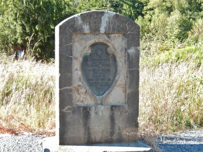 Coos Bay Waters to Coquille Waters Trail Marker (<i>tall view</i>) image. Click for full size.
