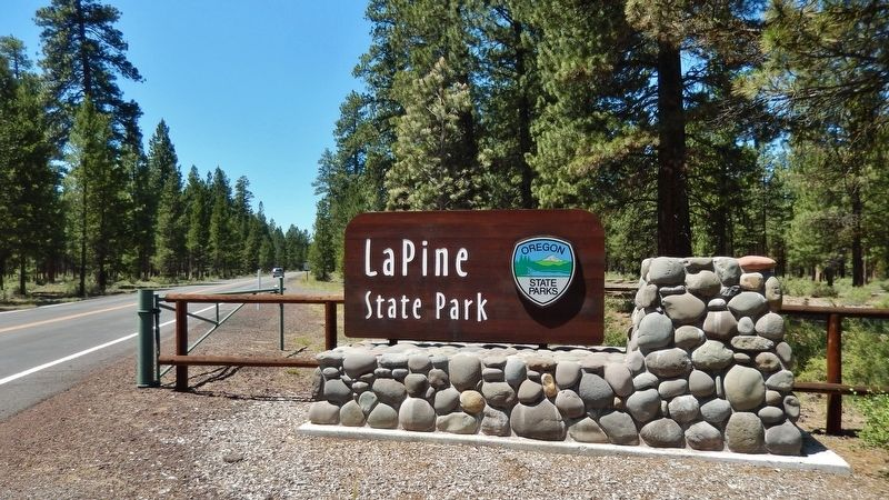 La Pine State Park Entrance image. Click for full size.