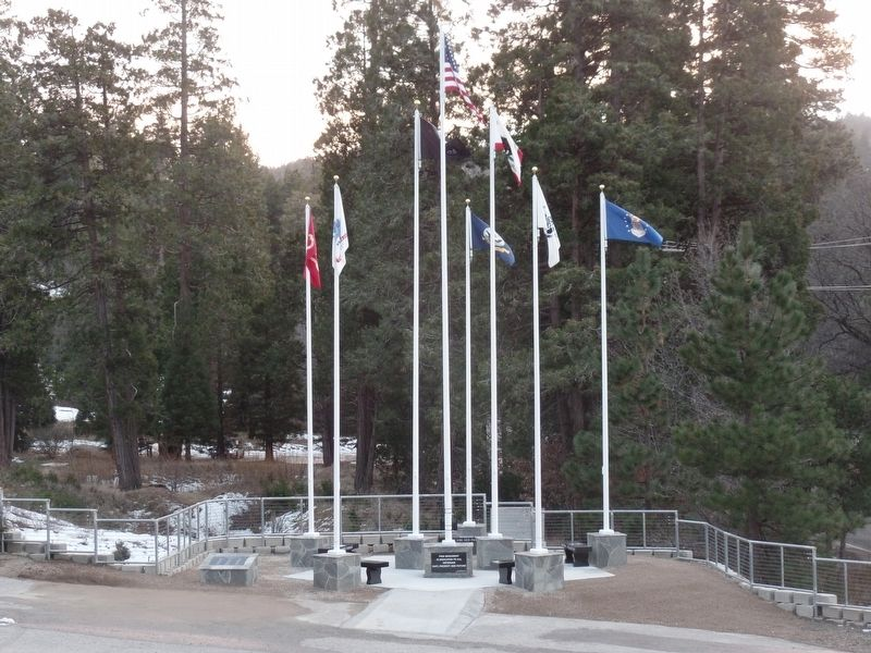 The Lake Arrowhead Veterans Monument, Liam Gavigan Eagle Scout Project image. Click for full size.