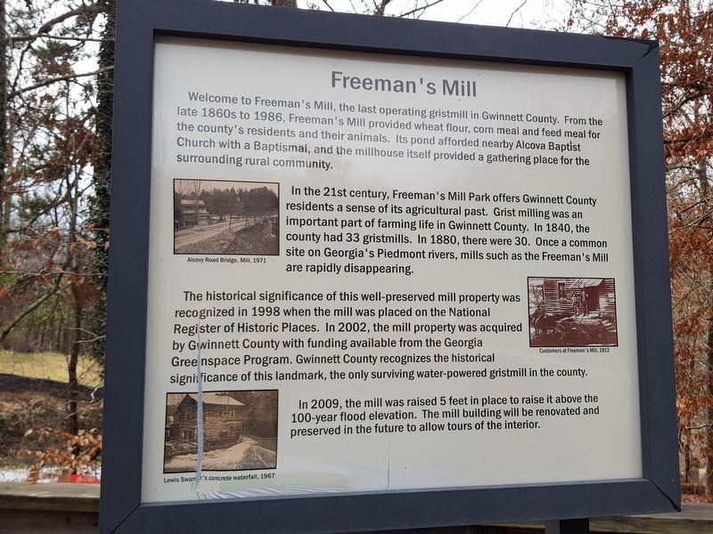 Freeman's Mill Marker image. Click for full size.