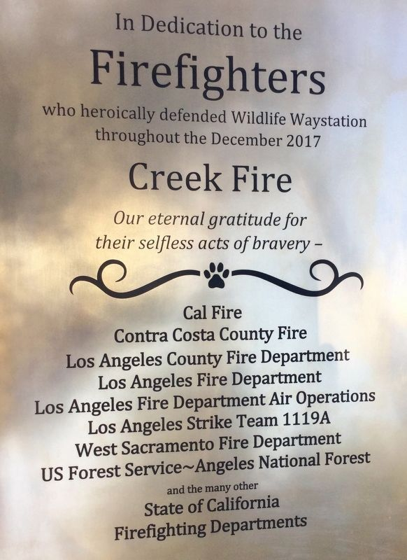 Firefighters Marker image. Click for full size.