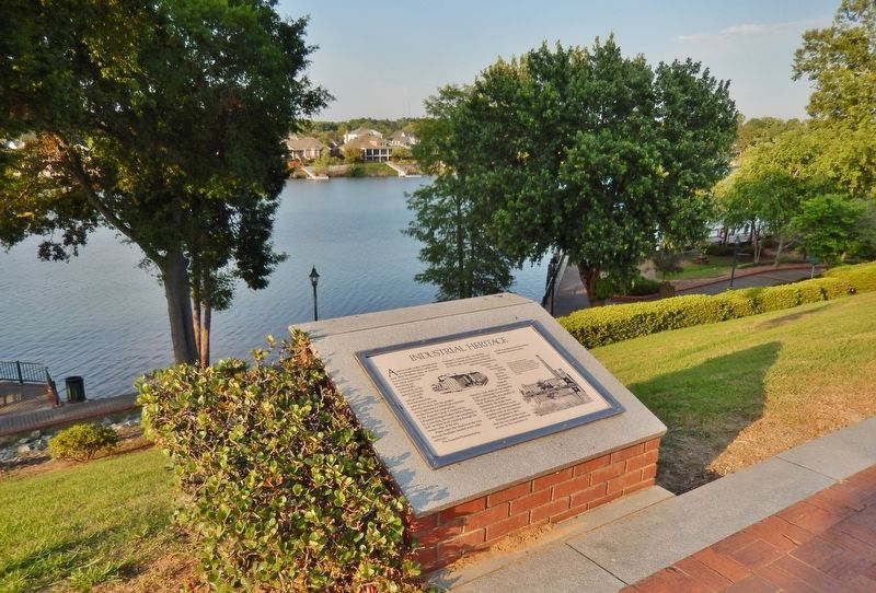 Industrial Heritage Marker (<i>wide view; Savannah River in background</i>) image. Click for full size.