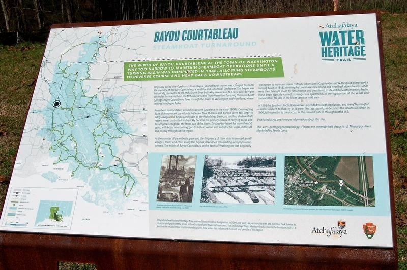 Bayou Courtableau Marker image. Click for full size.