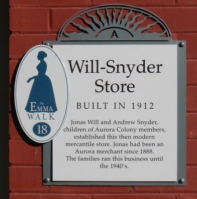 Will-Snyder Store Marker image. Click for full size.