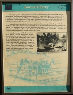 Boone's Ferry Marker image. Click for full size.