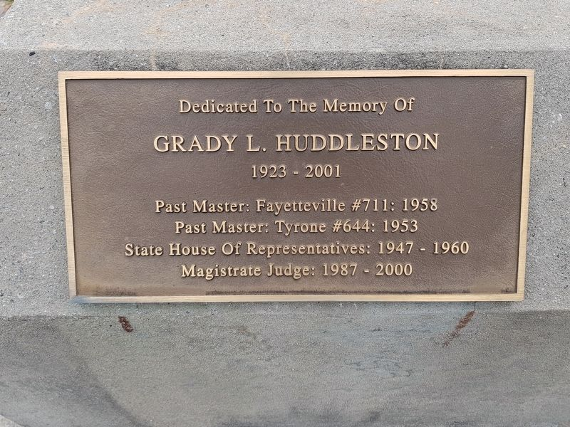 Grady L. Huddleston Marker image. Click for full size.