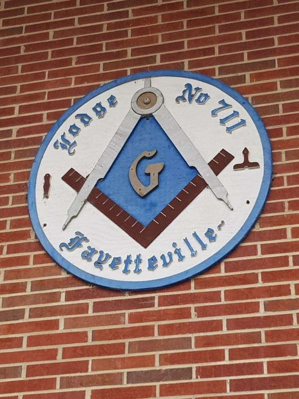 Fayetteville Masonic Lodge sign image. Click for full size.