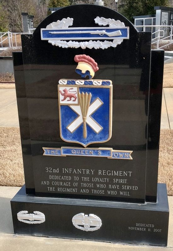 32nd Infantry Regiment Memorial (front) image. Click for full size.