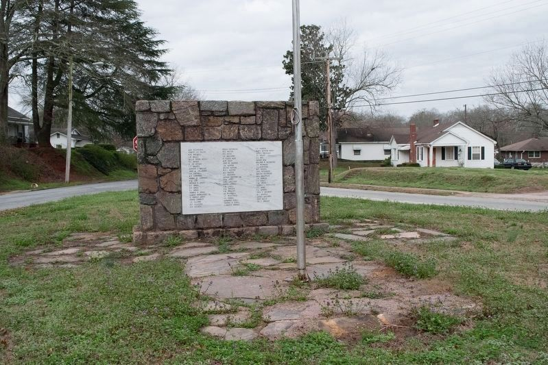 James Howe marker missing from Liberty, SC World War Veterans Monument image. Click for full size.