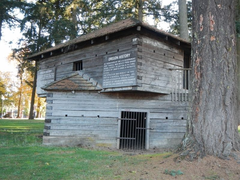 Yamhill Blockhouse and Marker image. Click for full size.