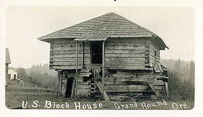 U.S. Block House Grand Round (sic) Ore. image. Click for full size.