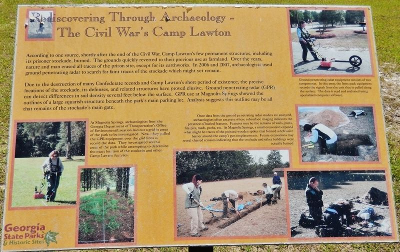 Archaeology - The Civil War's Camp Lawton Marker image. Click for full size.