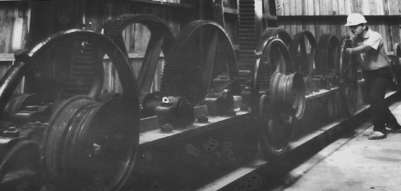 Marker detail: Original Rack and Pinion Gear Equipment in use since 1875 image. Click for full size.