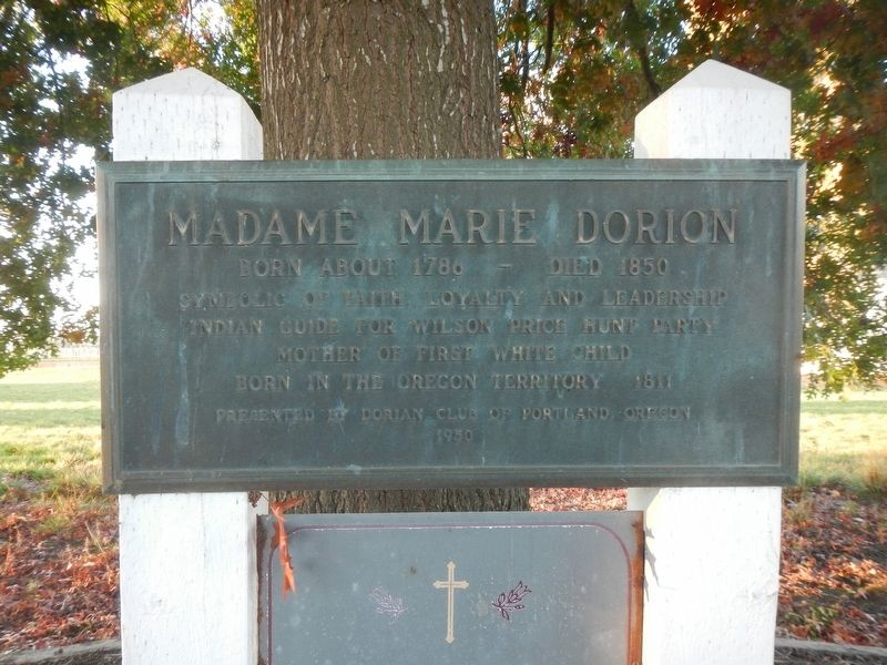 Madame Marie Dorion Marker image. Click for full size.