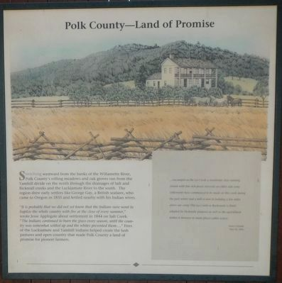 Polk County -- Land of Promise panel image. Click for full size.