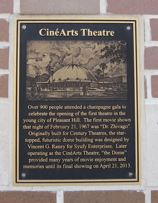 CinéArts Theatre Marker image. Click for full size.