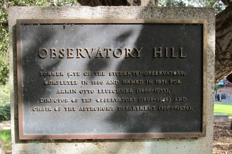 Observatory Hill Marker image. Click for full size.