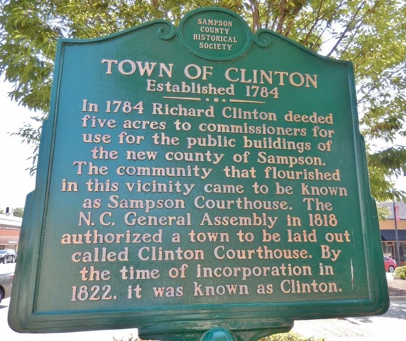 Town of Clinton Marker image. Click for full size.