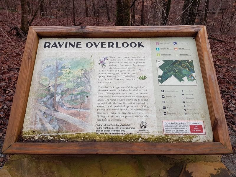 The additional, nearby Ravine Overlook Marker image. Click for full size.
